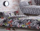 Kidz Club Tricks Skateboard & Graffiti Single Double King Duvet Cover Set & Curt