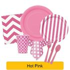 HOT PINK TABLEWARE -  Plates/Cups/Napkins/Tablecovers/Bags/Balloons