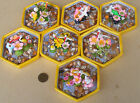 Yellow Hexagonal Pond With No Fish Dolls House Miniature Garden Accessory DIY