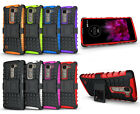 For LG Escape 2 / Logos / Spirit Case Hybrid Armor Tough Kickstand Phone Cover
