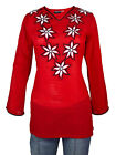 Ladies Indian Long Sleeve Kurta-Kurti Tops Red KL6757 Various Sizes