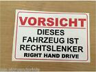 GERMAN RIGHT HAND DRIVE STICKER SIGN CAMPER HGV AMERICAN CAR - CHOICE OF SIZES
