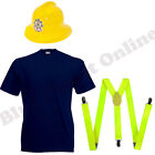 CHILDRENS KIDS BOYS FIREMAN FIREFIGHTER UNIFORM FANCY DRESS COSTUME