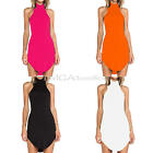 New Summer Women High Neck Casual Sleeveless Party Cocktail Short Mini Dresses