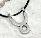 TAURUS ZODIAC APRIL MAY Pewter Pendant Leather Necklace