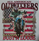 ALL AMERICAN OUTFITTERS DIRT RACING MOTORCYCLE BIKE BUSTIN' LOOSE SHIRT #360