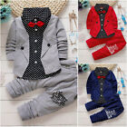 2pcs Toddler Baby Boys Kids Shirt Tops+ Long Pants Clothes Outfits Gentleman Set