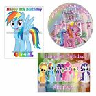MY LITTLE PONY EDIBLE CAKE or CUPCAKE TOPPERS Icing or Wafer