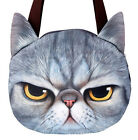 Women Handbag Shoulder Bags Tote Shopping Purse Lady Cute Muzzy Cat Face Bag
