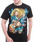Rock Chang 100% COTTON GLOW IN DARK TATTOO SEXY LADY ELECTRIC GUITAR BIKER JEANS