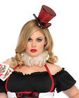 Red Mini Top Hat With Veil - Leg Avenue 2063