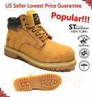 Men's Work Boots Winter Snow Boots Waterproof Rubber Wheat Leather Polo 2016