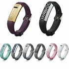 Silicone Accessory Band Wrist Strap Stainless Steel Metal Cover For Fitbit Flex