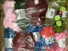 MIXED LOT OF WOOL 140 BALLS ASSORTED HAND KNITTING WOOL JOB LOT GOOD VALUE SALE