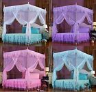 Lace Flower 4 Corner Post Bed Canopy Mosquito Netting Twin Queen King Sizes