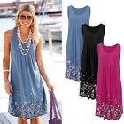 Sexy Women Summer Casual Sleeveless Evening Party Beach Dress  Mini Dress EN24H
