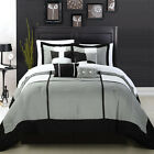 Dorchester Black 8 Piece Comforter Bed In A Bag Set