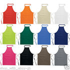 100% Cotton Plain Kitchen Apron Chef Butcher Cooking BBQ Crafts -Various Colours
