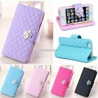 Synthetic Leather Flip Wallet Stand Case Cover for Apple iphone 5 5S N98B