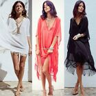 Women Beach Dress Kaftan Chiffon Sarong Summer Wear Swim Bikini Cover up N98B