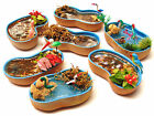1:12 Scale Ready Made Pond With Fish Dolls House Miniature Garden Accessory Bl