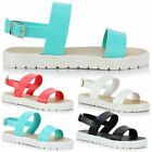 Ladies Women Girl Low Flat Flatform Flip Flop Sandals Strappy Mule Sliders Shoes