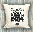 Couples Wedding Date PERSONALISED LUXURY CUSHION COVER YOUR TEXT, PERFECT GIFT