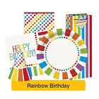 RAINBOW BIRTHDAY Tableware (Birthday/Plates/Napkins/Banner)