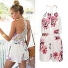 Womens Ladies Clubwear Lace Playsuit Bodycon Party Jumpsuit Romper EN24H