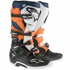 Alpinestars Tech 7 Motocross / MX / Enduro Boots - Black / Orange / White / Blue