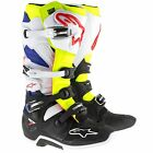 Alpinestars Tech 7 Motocross / MX / Enduro Boots - White / Yellow / Blue Fluro