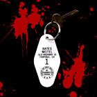 New BATES MOTEL horror movie prop KEYCHAIN, Psycho key fob, halloween decoration