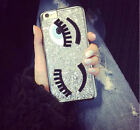 Women Thin Bling Glitter Girl Eye Back Case Cover For iPhone5 5s SE 6 6s Plus US