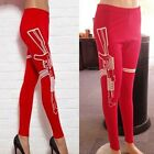 Lady Yoga Running Training Gym Active Cloth Tight Print Legging Fitness Trousers