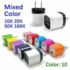 LOT 10X 20X 50X 100X USB Home Wall AC Charger Adapter For ALL USB Cable