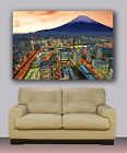 "Huge canvas print Mt. Fuji Volcano and Tokyo skyline ans sunset 30""x40"""