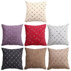 Home Sofa Bed Decor Multicolor PlaidsThrow Pillow Case Square Cushion Cover 17""