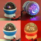 Kids Bedroom Night Starry Projector Lamp Sky Star Moon LED Light Romantic Gifts