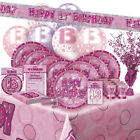 AGE 13/13TH BIRTHDAY PINK GLITZ PARTY RANGE (Balloon/Decoration/Banner/Napkins)
