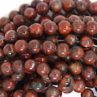 "Poppy Jasper Round Beads Gemstone 15.5"" Strand 4mm 6mm 8mm 10mm 12mm"