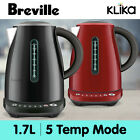 BREVILLE 1.7L KETTLE TEMP SELECT STAINLESS STEEL ELECTRIC BKE720 SEASAME