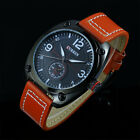 Fashion Men's Military Army Stainless Steel Leather Analog Quartz Wrist Watches