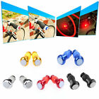 1Pair Safety Cycling Bike Bicycle Signal Handle Bar End Plug LED Red Light Lamp