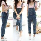 Womens Baggy Denim Jeans Long Length Strap Trousers Overall Jumpsuit Playsuit