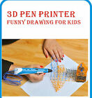 3D Printing Doodler Pen Stereoscopic Drawing Arts Crafts + 20X10m ABS Filaments