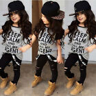 Cute Kids Baby Girl Toddler Clothes Tops T-shirt Pants Leggings Outfits Set 2-7Y