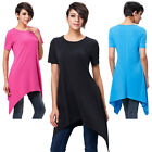 PLUS SIZE Womens Casual Short Sleeve Loose Tops Cotton Blouse T-Shirts Shorts