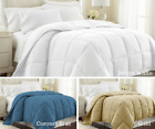 Best Lightweight Down Alternative Comforter with Corner Tabs-18 Colors