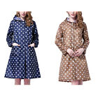 Women's Long Dot Waterproof Raincoat  98CM Long Rainwear Jacket High-quality