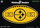 Pittsburgh Steelers NFL Football 6X Super Bowl Champs Logo Vinyl Decal Car Windo on eBay